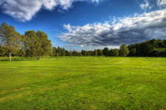 Autumn golf course in Sweden. Autumn scenery on Ronneby golf course in Sweden. HDR-enhanced Stock Photos