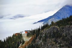 Autumn, Gondola, mountain in Whistler, British Columbia, Canada Stock Photos
