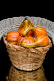 Autumn gourd centerpiece Royalty Free Stock Photography