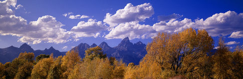 Autumn at Grand Tetons Royalty Free Stock Photo