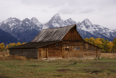 Autumn, Grand Tetons and farm Stock Photos