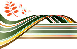 Autumn graphic royalty free illustration