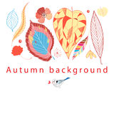 Autumn graphic background Stock Photography