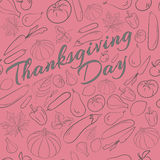 Autumn graphic pattern with fruits and vegetables. Thanksgiving day design Royalty Free Stock Photo