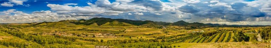 Autumn grassland panoramic scenery. Shot in zhangbei grassland in china Stock Photography