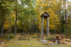 Autumn in graveyard Royalty Free Stock Photography
