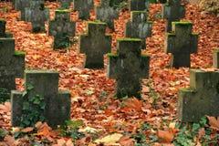 Autumn graveyard Royalty Free Stock Images