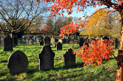 Autumn Graveyard Stock Photo