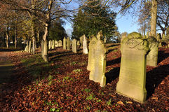 Autumn Graveyard Stock Photos