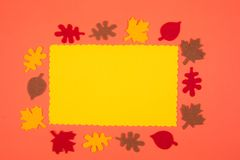 Autumn greeting card Royalty Free Stock Images