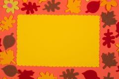 Autumn greeting card Stock Photography