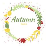 Autumn greeting card in hand drawn style. royalty free stock photo