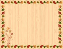 Autumn greeting card with leaves border vector illustration