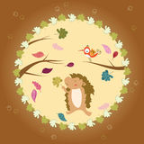 Autumn greeting card Stock Images