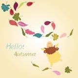 Autumn greeting card Stock Photos