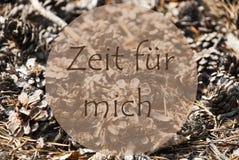 Autumn Greeting Card, tempo di mezzi di Zeit Fuer Mich per me Fotografie Stock