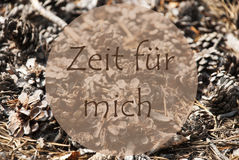 Autumn Greeting Card, Zeit Fuer Mich Means Time For Me Stock Photos