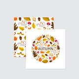 Autumn greeting cards Royalty Free Stock Photography