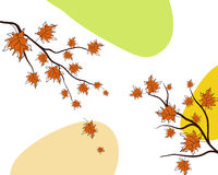 Autumn greeting doodle card Stock Images