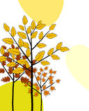 Autumn greeting doodle card Royalty Free Stock Photos