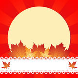 Autumn greeting frame Stock Image