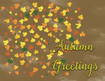 Autumn Greetings Stock Photo