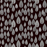 Autumn Grey Leaves Seamless Pattern Immagine Stock