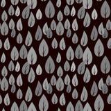 Autumn Grey Leaves Seamless Pattern Image stock
