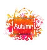 Autumn Grunge Banner Imagen de archivo