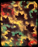 Autumn grungy background. Creative autumn background with maple leaves Stock Photos