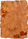 Autumn grungy old paper Royalty Free Stock Image
