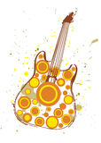 Autumn Guitar Poster Illustration Libre de Droits