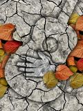 Autumn guitar theme. Royalty Free Stock Images