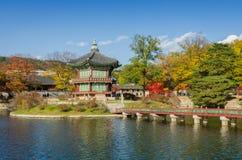 Autumn of Gyeongbokgung Palace in Seoul ,Korea Royalty Free Stock Photos