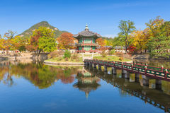 Autumn of Gyeongbokgung Palace in Seoul ,Korea stock photos