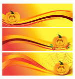 Autumn Halloween Banner Illustration Stock
