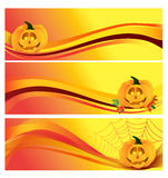 Autumn Halloween Banner Royaltyfri Foto