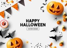 Autumn Halloween Composition Background illustration libre de droits
