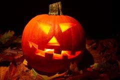Autumn Halloween-pompoen Royalty-vrije Stock Afbeeldingen