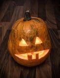 Autumn Halloween-pompoen Stock Fotografie