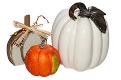 Autumn Halloween Pumpkins Orange-huis royalty-vrije stock afbeeldingen