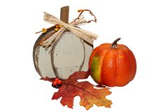 Autumn Halloween Pumpkins Orange-huis stock foto