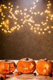 Autumn halloween pumpkins Stock Photography