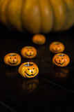 Autumn halloween pumpkins Royalty Free Stock Photos