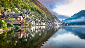 Autumn in Hallstatt Stock Image