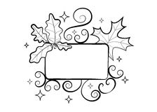 Free Autumn Hand-drawn Composition. Fall Season Frame With Leaves Stock Images - 79679144