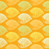 Autumn hand drawn leaf. Wallpaper seamless pattern background. Royalty Free Stock Photography