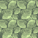 Autumn hand drawn leaf. Wallpaper seamless pattern background. Stock Images