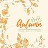 Autumn hand drawn vector illustration royalty free stock photos