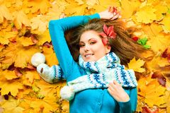Autumn happiness Stock Photography